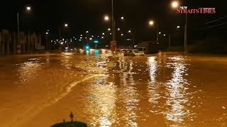 Five villages hit by flash floods in Jawi; 71 victims evacuated