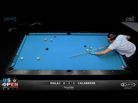 2017 US Open 8-Ball: Malaj vs Calabrese