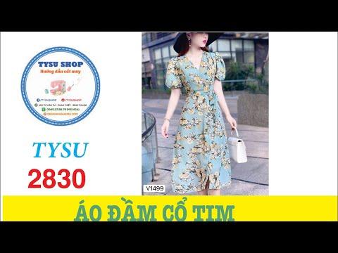 Hướng Dẫn Cắt May Áo Đầm Cổ Tim TYSU SHOP 2831