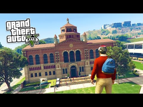 GTA 5 PC Mods - REAL LIFE MOD #1! GTA 5 School & Jobs Rolepl