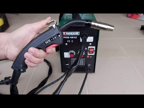 Parkside    MIG MAG Welding Machine Flux Cored Wire Welder PFDS 120 A2 LIDL Unboxing And TEST PART 1