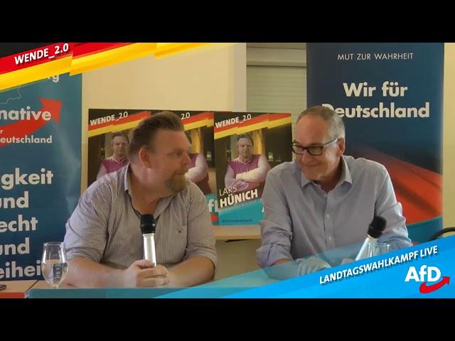 AfD Bürgerdialog (Medien,Seenotrettung, Migration) mit Lars Hünich, AfD & Roman Reusch, AfD (MdB)
