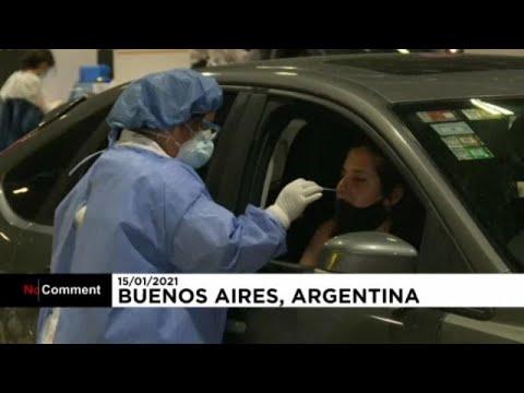 شاهد أرجنتينيون يخضعون لاختبارات كوفيد-19 في سياراتهم  - نشر قبل 19 ساعة