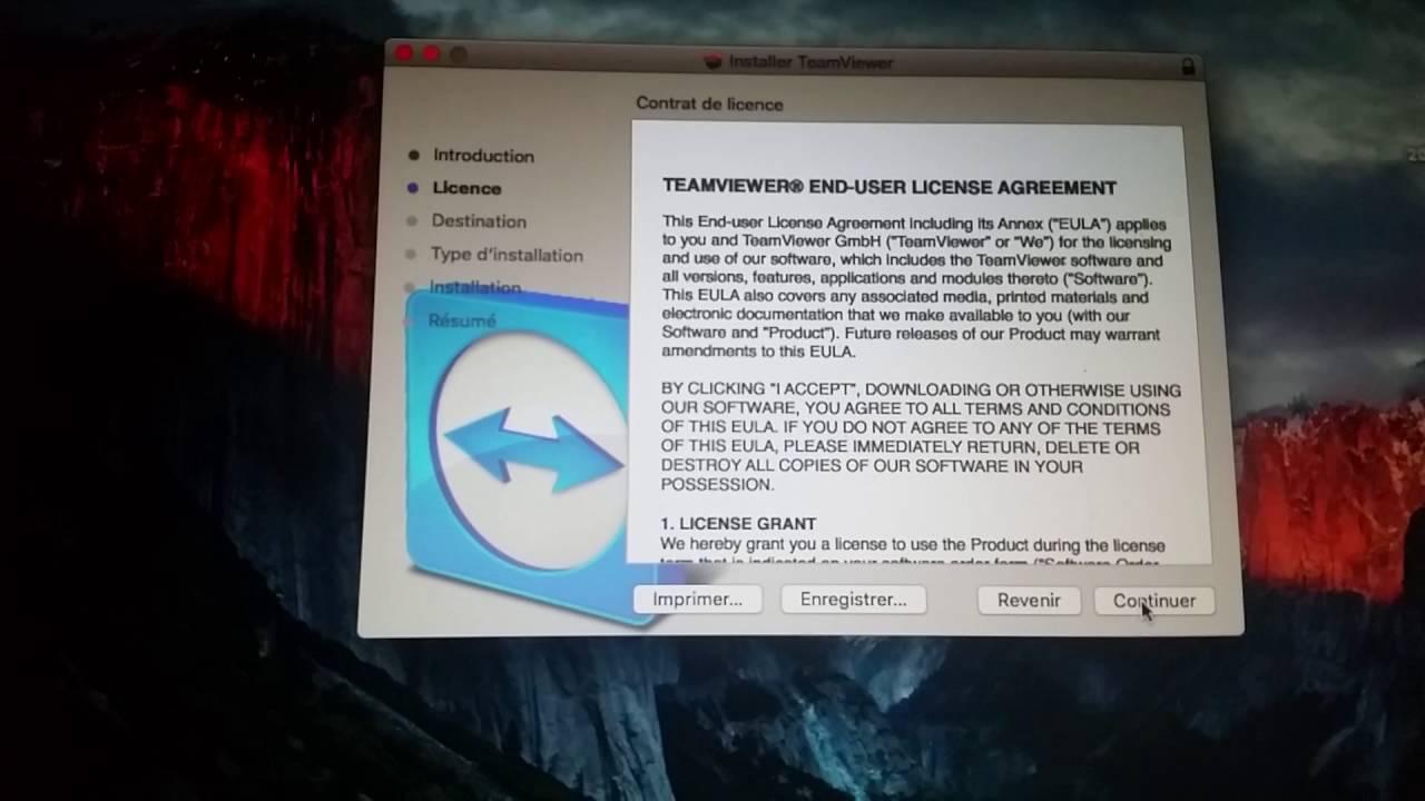 install teamviewer mac os x