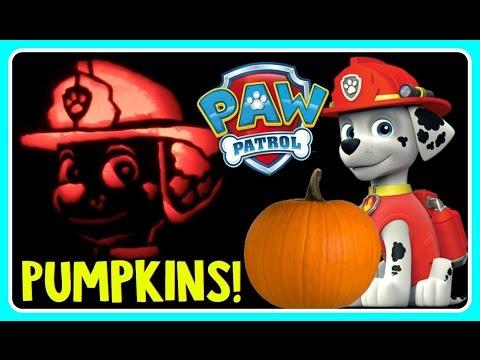 PAW PATROL PUMPKIN CARVING MARSHALL Pumpkin Carving Ideas For Halloween! DIY Halloween Pumpkin