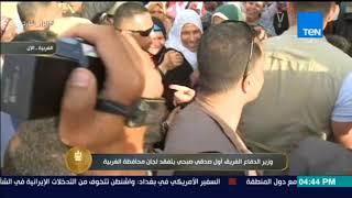الرئيس - وزير الدفاع الفريق أول صدقي صبحي يتفقد لجان محافظة الغربية والسيدات يستقبلوه بـ