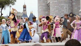 Mickey's Royal Friendship Faire, Full Multi-Angle Castle Stage Show, Magic Kingdom, Disney World