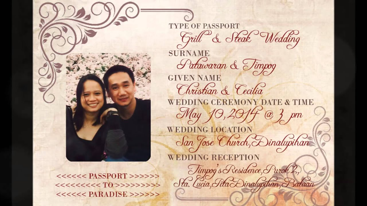 Christian Wording For Wedding Invitations: Christian & Cecilia Wedding Invitation