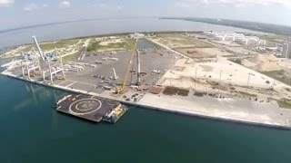 SpaceX Falcon 9 CRS8 Booster at Port Canaveral