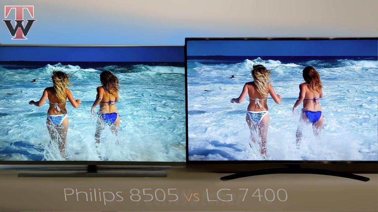 Philips PUS8505 vs LG UN7400 Smart TV - YouTube
