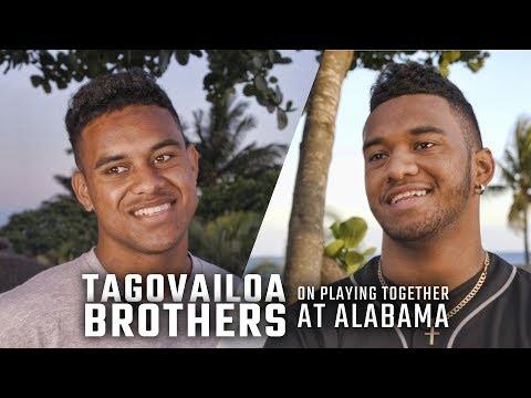 Tua Tagovailoa, younger brother discuss possible 2019 Alabama QB battle