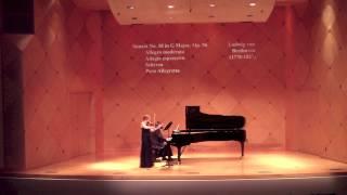 Beethoven Sonata No. 10 in G Major, Op. 96 IV. Poco allegretto