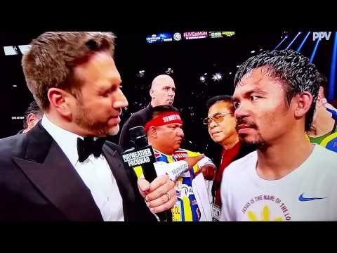Mayweather Pacquiao BEST EXCHANGE OF THE NIGHT  Pacquiao Post Game Interview Max Kellerman
