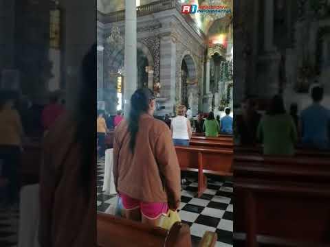 Así se vive el #DíaDeLaVirgen en la Catedral de #Mazatlan