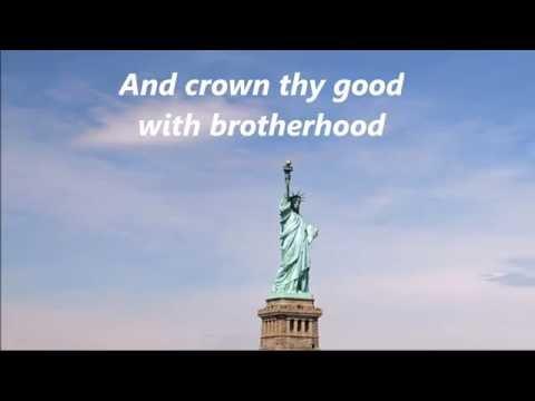 AMERICA THE BEAUTIFUL Words Lyrics Best Patriotic Veterans Memorial Day July 4 singalong songs