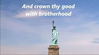 AMERICA THE BEAUTIFUL Words Lyrics Best Patriotic Veterans Memorial Day July 4 sing-along songs