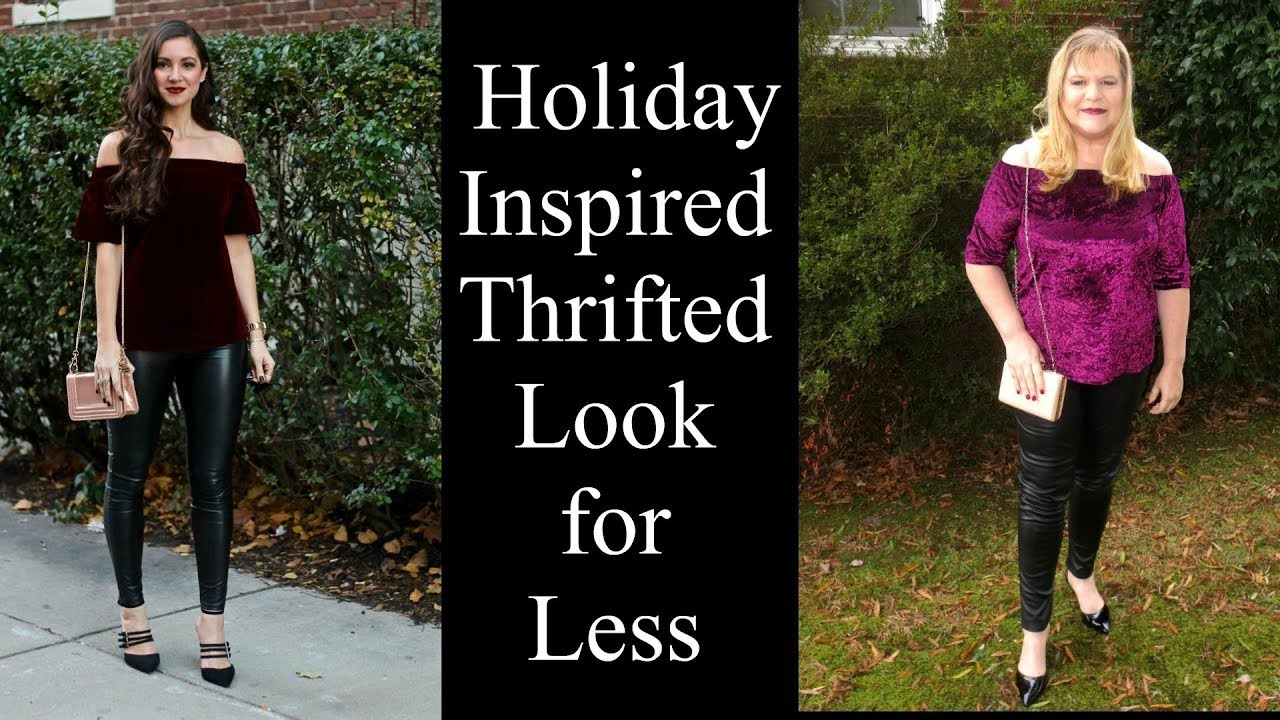 [VIDEO] - Holiday Outfit Ideas - Thrifted Look for Less - Curvy Girl Style 2