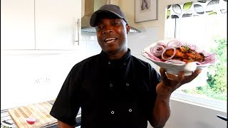 CHECK OUT THE WORLD BEST JERK CHICKEN -Chef Ricardo Salad Bar
