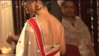 Debina in Backless Blouse N Transparent SAREE