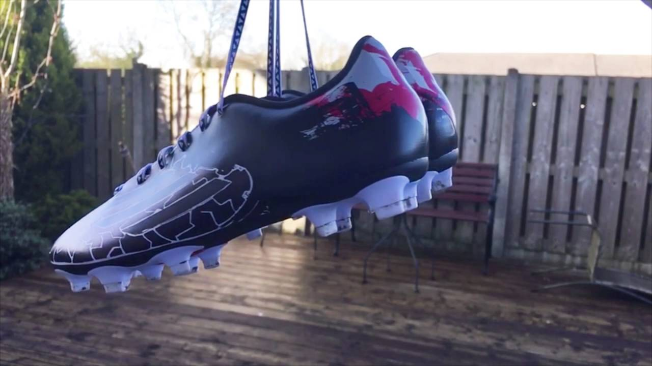 5b50f0ef1 Customized Adidas Messi Football Boots - YouTube