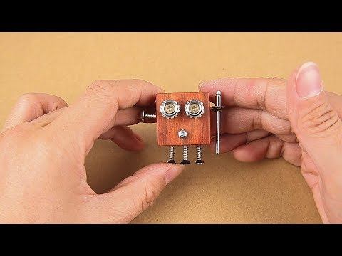 Making Robot Toys with Wood Blocks and Screws | Wooden Robot DIY Homemade Toy
