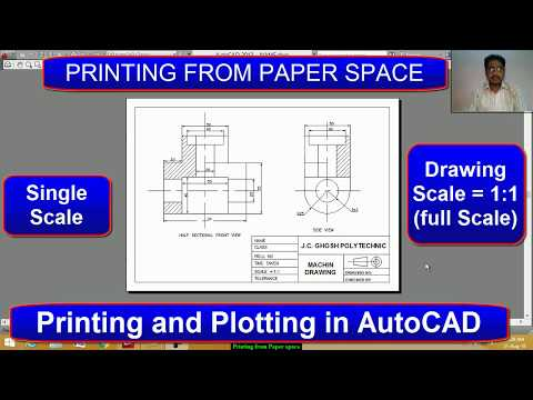Printing From Paper Space In AutoCAD | Drawing Scale 1:1