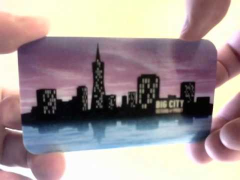 "Big City — Lenticular ""Animated"" 3-Flip Business Card"