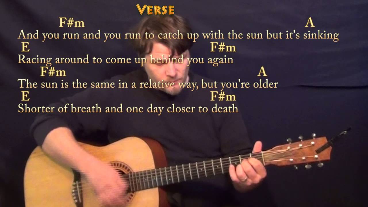 time pink floyd guitar cover lesson with chords lyrics youtube. Black Bedroom Furniture Sets. Home Design Ideas
