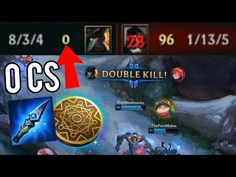 Trying to win without farming a SINGLE minion (Kleptomancy Challenge) - Weird League of Legends
