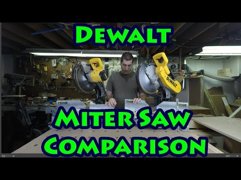 Dewalt Miter Saw Comparison, DW715 Vs DW716