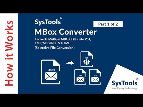 MBOX Converter - Import MBOX to Outlook PST File (Selective Emails)
