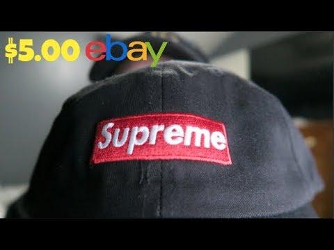 I BOUGHT SUPREME DAD HAT ON EBAY FOR  5! SUPREME DAD HAT REVIEW ... bef84ea953c