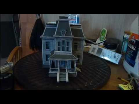Papercraft Psyco Mansion Paper Model