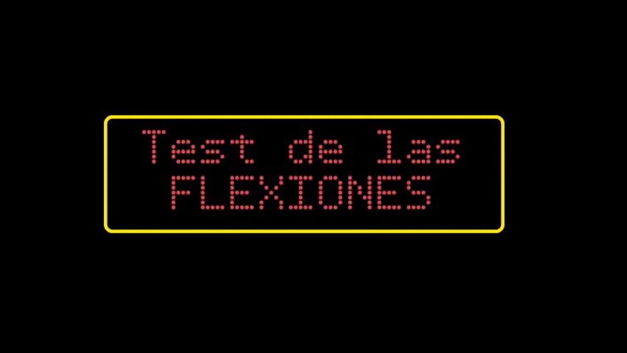 Test y reto de flexiones