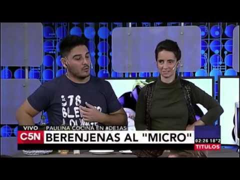 BERENJENA 4 MINUTOS - Paulina Cocina en C5N con Hernán Lirio