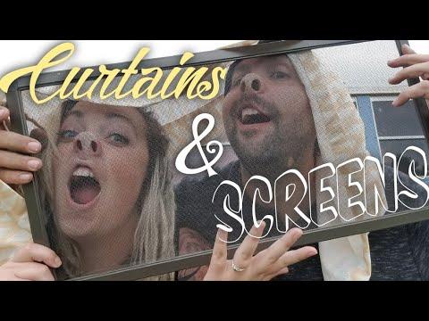 DIY Skoolie Curtains and Screens