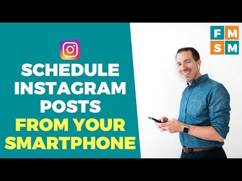 Schedule Instagram Posts From A Smartphone