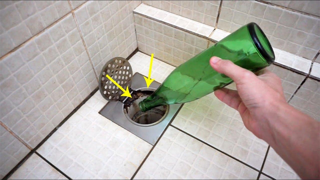 把啤酒瓶放入下水道,作用太厲害了!解決了家裡多年的困擾!大家一定要學起來!