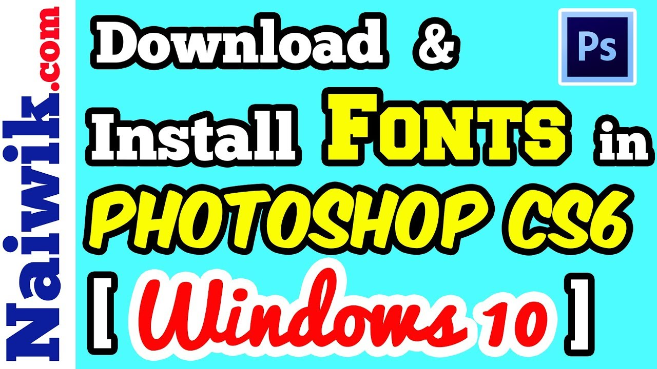 how to download photoshop cs6