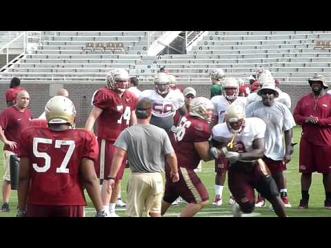 Timmy Jernigan at FSU open practice - spin...
