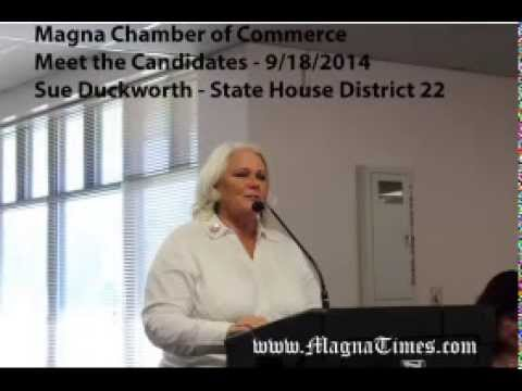 Sue Duckworth - Magna Chamber Meet the Candidates 9/18/2014