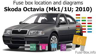 Fuse box location and diagrams: Skoda Octavia (Mk1/1U; 2010) - YouTubeYouTube