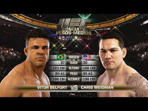 CHRIS WEIDMAN x VITOR BELFORT- UFC 187 - EA UFC - Simulação [HD]
