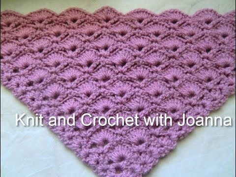 Crochet Shawl Nr8 Pretty Shell Pattern For A Shawl Youtube