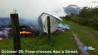 Watch lava flow across Hawaii
