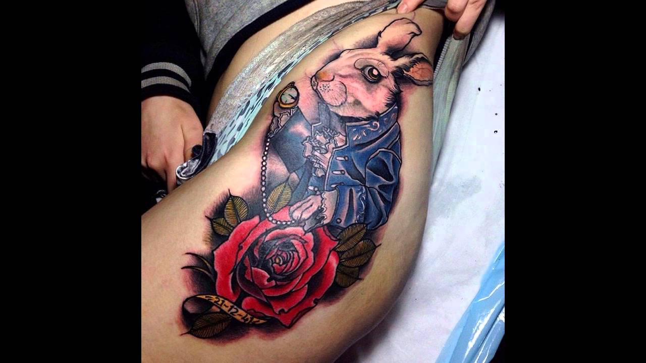 45 Fairy Alice in Wonderland Tattoos - YouTube - Tattoo Alice Im Wunderland