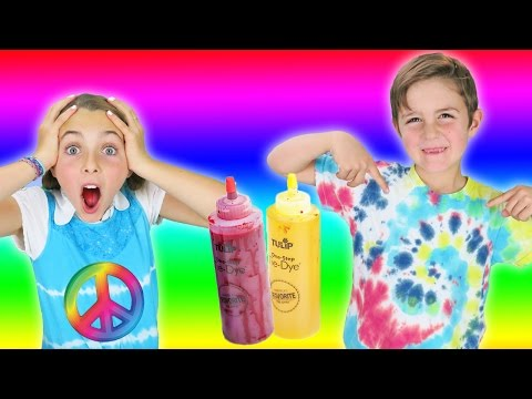 Thumbnail: How To Make DIY Colorful Tie Dye T-Shirt | Fun Easy Rainbow Craft For Kids | Learn With Princess Ava