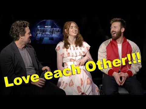 Avengers Endgame Chris Evans, Karen Gillan & Mark Raffalo