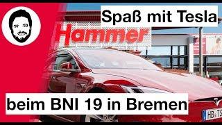 Spaß mit Tesla beim BNI 19 bei Witthus Hammer in Bremen