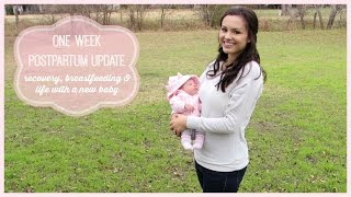 1 Week PostPartum Update | Recovery, Breastfeeding & Life with a New Baby Thumbnail